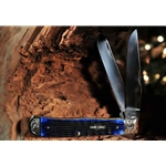 Navy Blue Bone Trapper with Scrolled Bolsters 92800