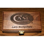 Walnut Knife Box With Case Logo KW6CASE