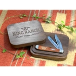 Large Walnut Wood Trapper Box With Lasered Logo 227215