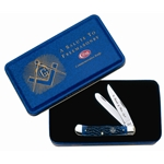 Masonic Blue Bone Trapper in Gift Tin-Engravable