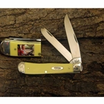 Yellow Handle Trapper with Photo on Handle-Scrolled Bolsters and Gift Box 90161P