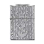 Case Deep Carved Heavy Walled Armor Black Ice Lighter 48732