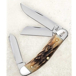Burnt Prime Stag Sowbelly 12392 Engravable
