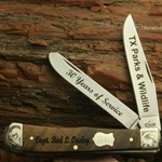Tasmanian Blackwood Trapper with Scrolled Bolsters and Gift Box 82655