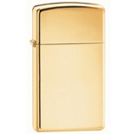 Zippo® Plain-High Polish Brass-Slim