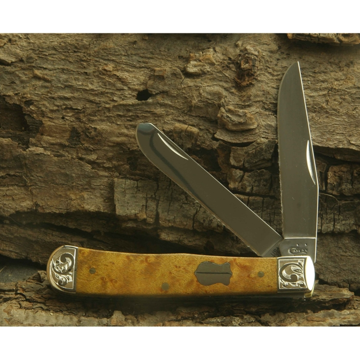 Birdseye Maple Trapper with Scrolled Bolsters and Gift Box 82890