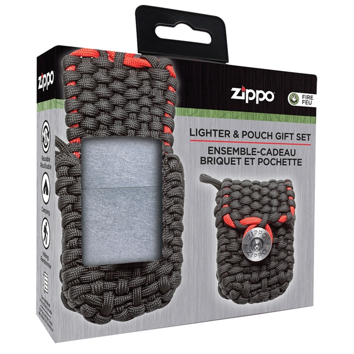 Zippo Lighter Paracord Pouch Gift Set 40472