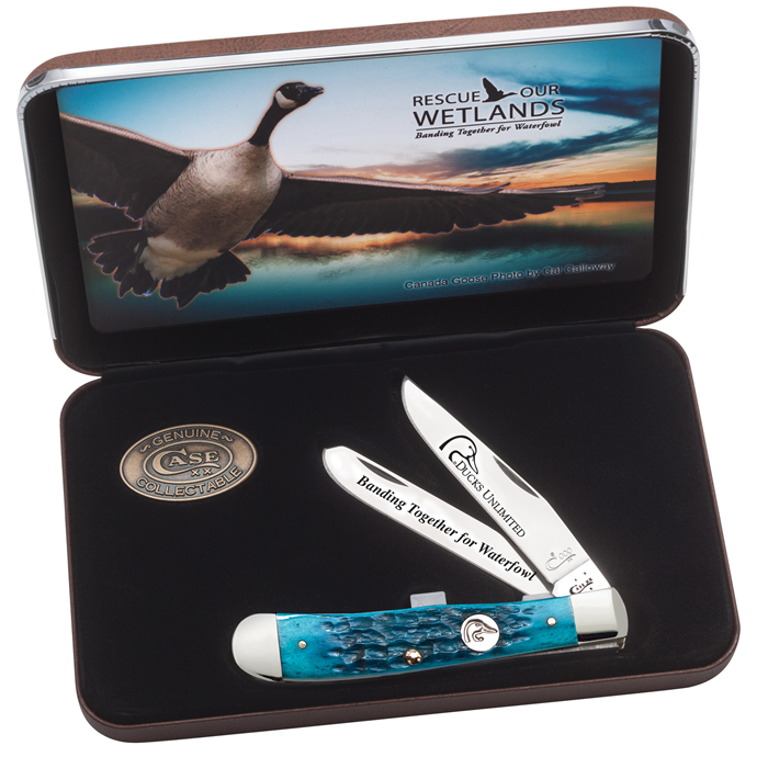 Ducks Unlimited Caribbean Blue Bone Trapper in Jewel Box 7308